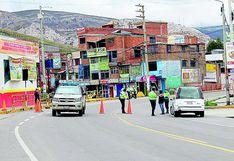 Cierran fronteras en La Oroya para prevenir contagios de COVID-19