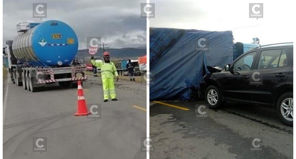 Choque de tráiler y camioneta cierra el pase en la Carretera Central (FOTOS)