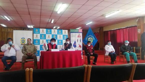 Se realizó conferencia de prensa en la ciudad de Juliaca.