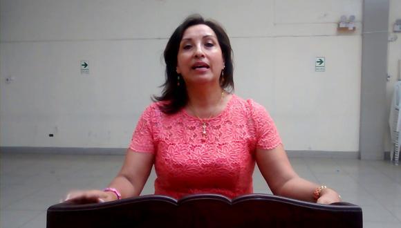 """""""Hemos dicho lo que pensamos hacer y eso es lo que vamos a hacer"""", señaló la candidata a la vicepresidencia de Perú Libre. (Foto: Youtube)"""