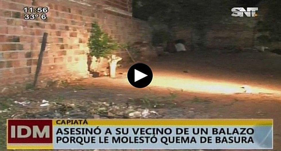Paraguay: no le gustó que su vecino queme basura y lo mató