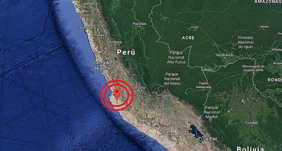 Ica: sismo de 4.9 grados se registró en Marcona