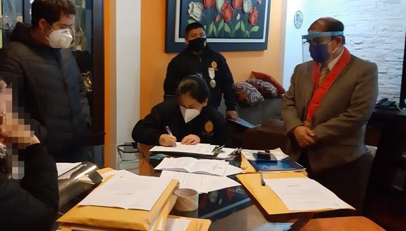 La diligencia está a cargo del Ministerio Público y la Policía Nacional. (Foto: Ministerio Público)