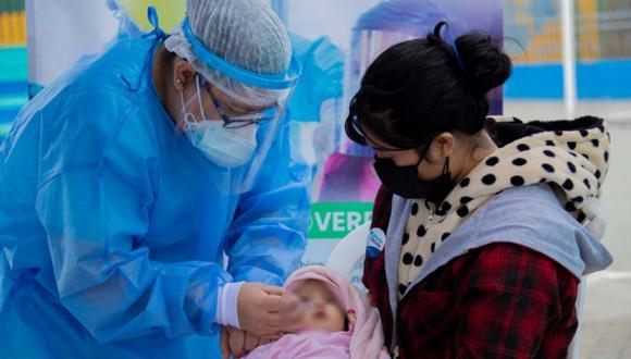 Entre enero y marzo del 2021 solo el 5% de niños menores de 1 año recibió el refuerzo de la vacuna contra la influenza. (Foto: Municipalidad de Lima)