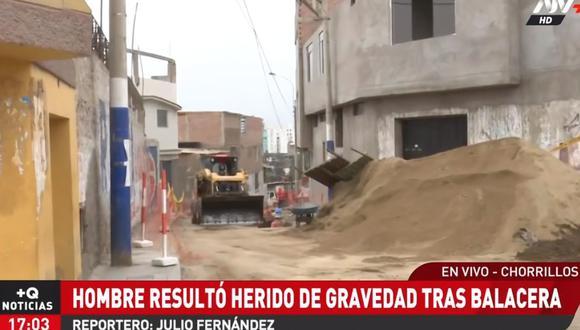La balacera ocurrió en una obra que se desarrolla en Chorrillos. (ATV+)