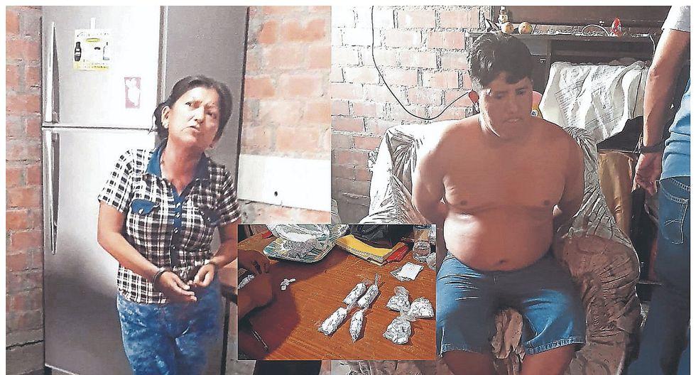 Capturan a una pareja que se dedicaría a la venta de drogas en la ciudad de Ferreñafe