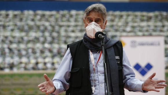 Francisco Sagasti se pronunció sobre el retiro de hasta 4 UIT de las AFP. (Foto: Jorge Cerdán / GEC)