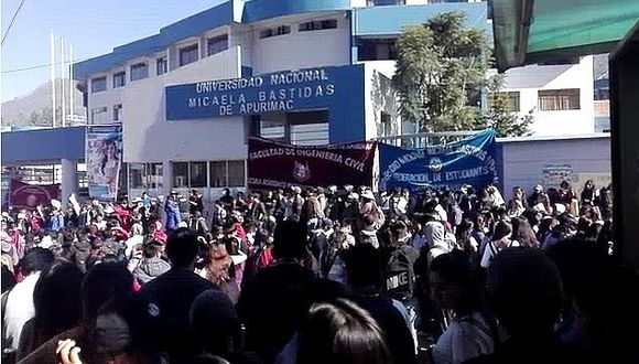 Convocan paro en rechazo a corrupción en universidad de Abancay