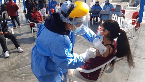 La inmunización del nuevo grupo etario responde a la poca asistencia en la vacunatón, (Foto: @photo.gec)