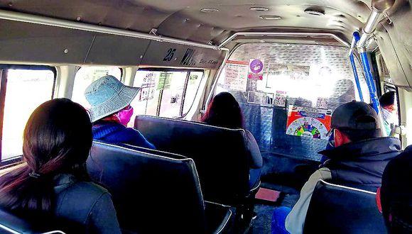 Solamente el 40% del transporte público en Huancayo presta servicios por falta de demanda