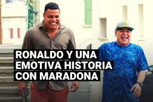 Ronaldo reveló que guarda un obsequio muy personal que le dio Diego Maradona