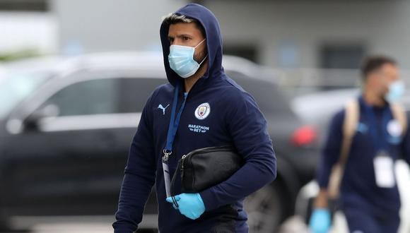 Sergio Agüero permanecerá aislado por contacto con persona que dio positivo al coronavirus. (Foto: AFP)