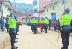 Rinden homenaje póstumo a policía que falleció en operativo antidrogas en Huánuco