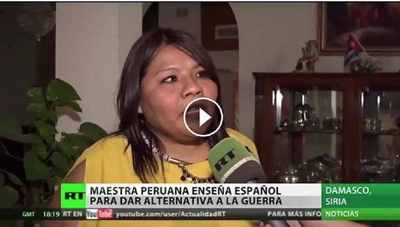 Siria: Maestra peruana enseña español a ciudadanos de Damasco (VIDEO)