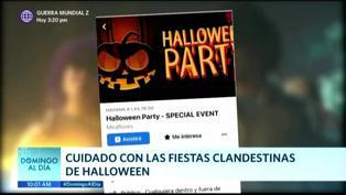Advierten sobre el peligro de las fiestas clandestinas en Halloween