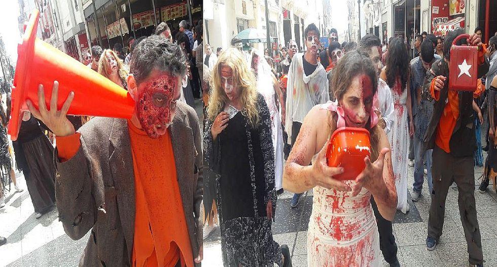 """Singular protesta para elegir bien y no votar por """"zombies al Congreso"""" (VIDEO y FOTOS)"""