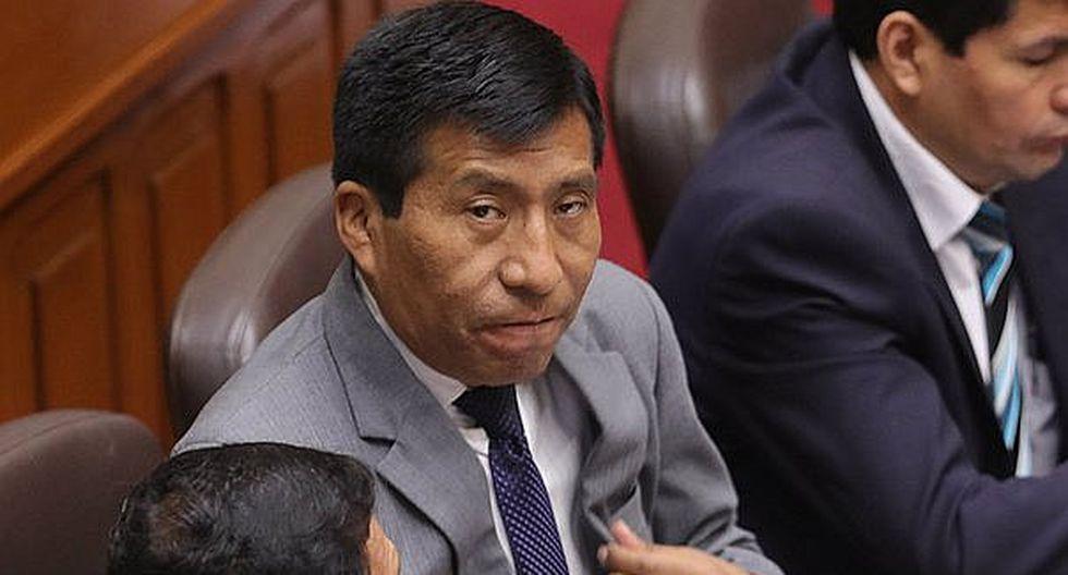 Pleno del Congreso define hoy pedido para levantar inmunidad parlamentaria a Moisés Mamani
