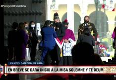 Francisco Sagasti participa de la tradicional misa y Te Deum por última vez (VIDEO)