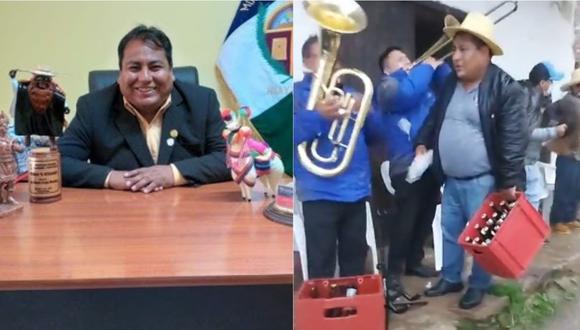 Alcalde de la provincia de Huaytará, de la región Huancavelica.   Foto: Facebook.