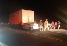 Ocho personas salvan de morir en choque y despiste de vehículos