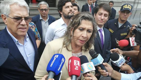 Zenaida Solís, del Partido Morado, aseguró que si integran o no la Mesa Directiva, mantendrán una agenda independiente. (Foto: Andina)