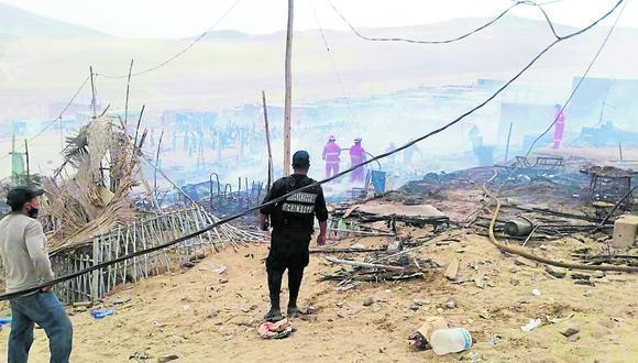 Familias humildes  de la parte alta de sector San Pedro lo perdieron todo y esperan que las autoridades y población los apoyen.