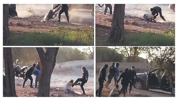 Policías golpean a intervenidos