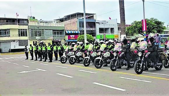 Los efectivos policiales hicieron intervenciones en Camaná. (Foto: Difusión)