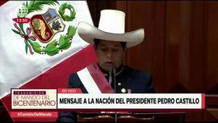 Pedro Castillo anunció cambio del nombre del Ministerio de Cultura (VIDEO)