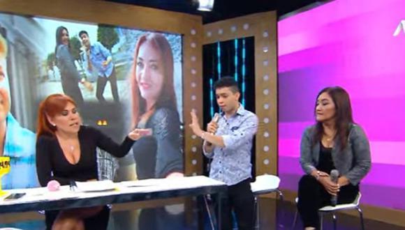 Magaly Medina expuso un parte policial por presunta extorsión contra la nueva pareja de Flor de Huaraz, Junior Marcano. (Foto: Captura ATV)