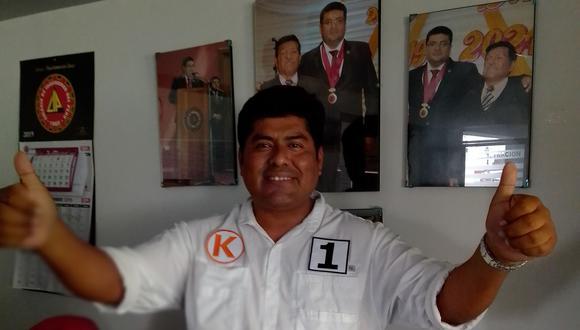 Henry Curo Cardosa postulaba con el número 1 por Fuerza Popular. (Foto: Adrian Apaza)