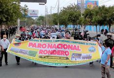 Ronderos se movilizan en Piura en contra del fallo del TC que les quita facultades en la administración de justicia comunal