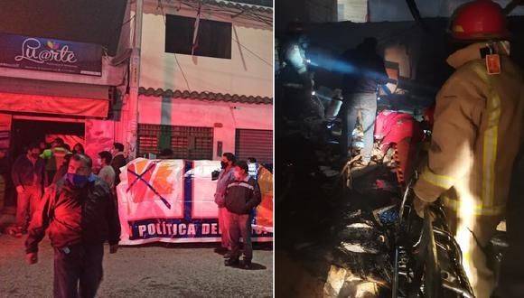 Fuego en tienda de gigantografía deja dos bomberos heridos
