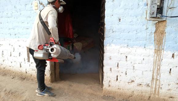 Lambayeque: el segundo ciclo de fumigación está programado para el próximo 7 de mayo y para el lunes 10 del mismo mes. (Foto: Geresa)
