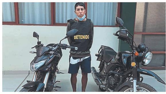 Chimbote: Policía detiene a sujeto que tenía dos motos robadas en su poder