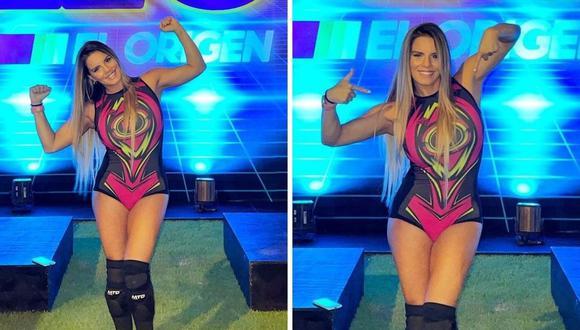 """Alejandra Baigorria desafió a la integrante de los """"Guerreros"""", Ducelia Echevarría. (Foto: @alejandrabaigorria)"""