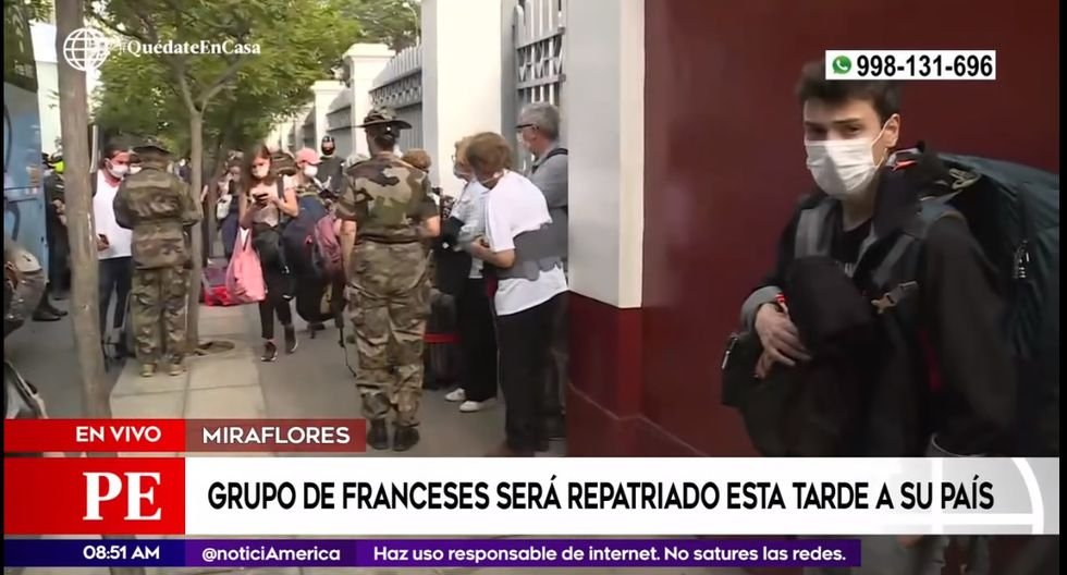 Franceses retornarán a su país tras coordinaciones entre la embajada y la Cancillería peruana. (Captura América TV)