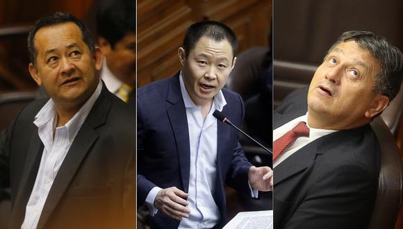 Kenji, Ramírez y Bocángel: Fiscalía formaliza investigación preparatoria en su contra