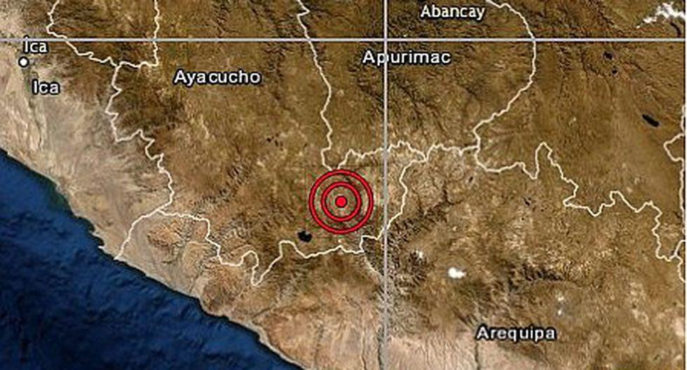 Sismo de magnitud 4.5 se registró en la región Ayacucho
