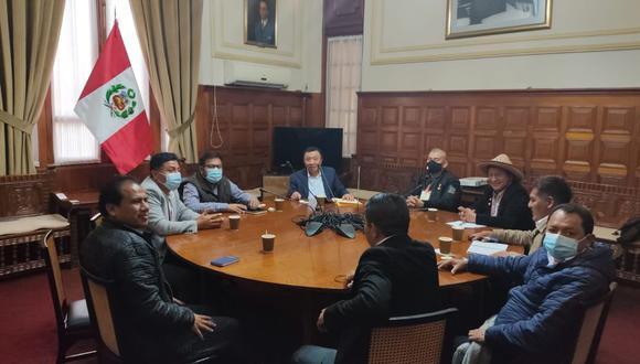 Electos congresistas de Perú Libre sostuvieron -la semana pasada- una reunión con sus pares de Acción Popular y Podemos Perú. (Foto: Perú Libre)