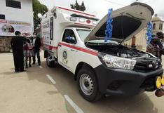 Entregan ambulancia equipada para asistir a pobladores del distrito de Chamaca en Cusco