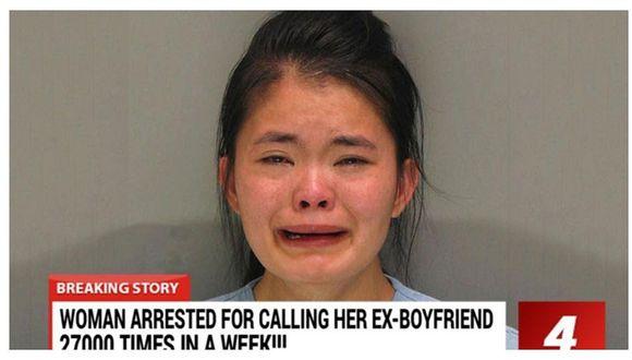 Detienen a mujer por llamar 27 mil veces a su ex novio en solo una semana
