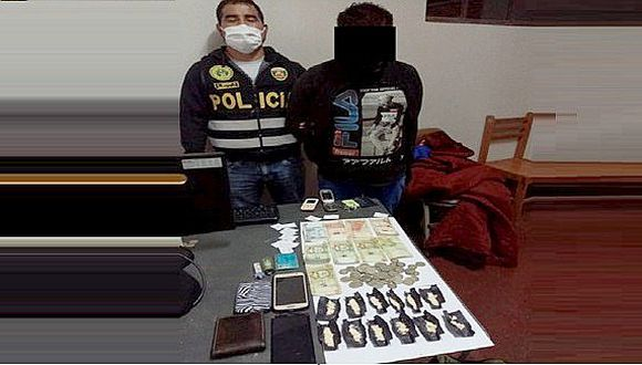Cae sujeto que entregaba droga por delivery en Cusco