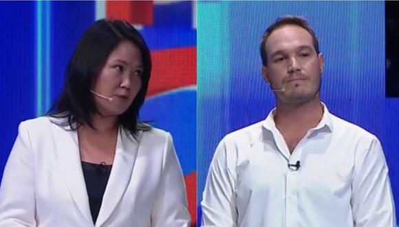 La candidata presidencial de Fuerza Popular le recordó al exalcalde la denuncia por violencia familiar que le entabló Vanessa Terkes.