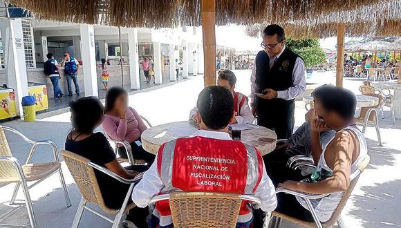 Sunafil encuentra a cuatro menores laborando en Club de Piura