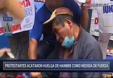 Hombre de la tercera edad se desmayó en huelga de hambre por la ONP