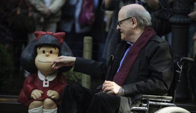 Joaquín Salvador Lavado, creador de Mafalda. (Foto: Reuters / Eloy Alonso)