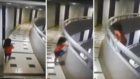 Tailandia: Pequeña sobrevivió a caída del piso 11 de un hotel (VIDEO)