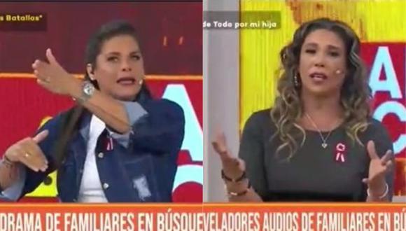 Giovanna Valcárcel y Thais Casalino se indignaron por la mafia de camas UCI en red Almenara. (Foto: Captura de video)