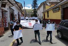 """Operadores de turismo marchan y piden """"salvar"""" sector en Ayacucho"""